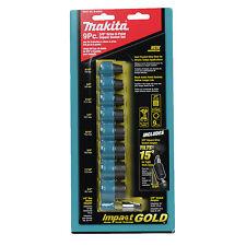 "Makita B-34833 9 Piece Impact Gold Torsion 3/8"" Drive 5/16""-3/4"" 6-PT Socket Set"