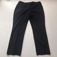 Ann Taylor Signature Pants Straight Leg Texture Polka Dot Dark Blue Size 8P A395