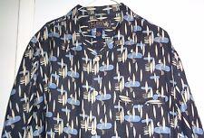 Nat Nast ATOMIC Tony Soprano HBO 50's-60's Style! Camp Loop Collar 100% Silk  L