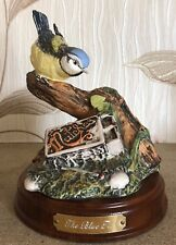 ROYAL DOULTON BLUE TIT WITH MATCHES GARDEN BIRDS COLLECTION No DA 13  BOXED