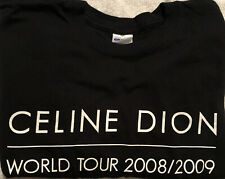 Celine Dion World Tour 2008/2009  - Working Crew T-Shirt Size XL New-Not Worn