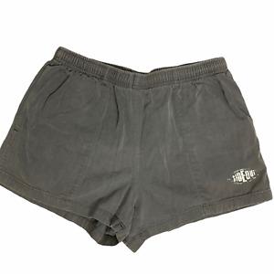 Vintage Sideout Pull On Shorts 30 Grey Cotton Elastic Waist Pockets Drawstring
