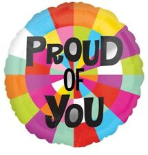 """PROUD OF YOU 17"""" HELIUM FOIL BALLOON CONGRATULATIONS GCSE RESULTS WELL DONE"""
