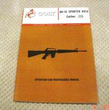Colt AR-15 Sporter Rifle Manual 1964 PRE-71 RARE