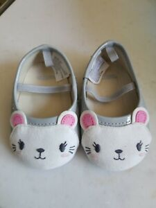 Gymboree Infant Girls Crib Shoes Tiny Team Mouse Size 4  FREE SHIP