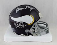 Purple People Eaters Autographed Minnesota Vikings Mini Helmet- JSA Auth