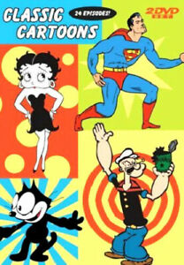 Brand New DVD Classic Cartoons 2 DVD Boop Superman Popeye Felix 24 Episodes