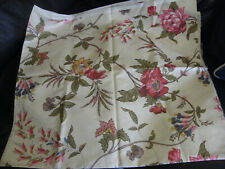 LAURA ASHLEY FLORAL FABRIC BNWOT UNUSED MEASURES 46'' X 104'' APX 100% COTTON