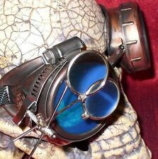 Steampunk Goggles Glasses magnifying lens Blue Old red novelty biker