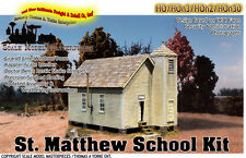 ST. MATTHEW's SCHOOL HOUSE KIT Scale Model Masterpieces/Yorke HO Fine Craftsman