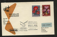 Luxembourg  nice helicopter flight cover   1956             MS0125
