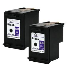2PKs HP 60XL 60XL Black Ink Cartridge CC641WN 60 XL ENVY 100 110 111 114
