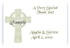100 Personalized Custom Irish Celtic Bridal Wedding Thank You Note Cards