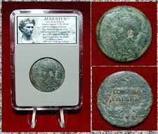 ROMAN EMPIRE COIN AUGUSTUS STRUCK IN COLONIA PATRICIA,SPAIN AVGUSTUS ON OBVERSE