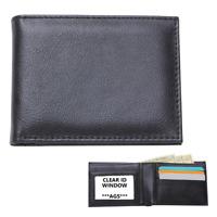 BIFOLD WALLET Mens Black Genuine Leather Slim Credit Card ID Case Money Holder