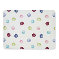 Cooksmart Spotty Dotty Placemats Set of 4 Rectangular Dining Table Setting