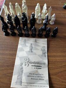 Vintage 1959 Renaissance Chessmen Pieces *missing 3