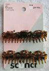 """6 Scunci Hair Jaw Clips Value Pack Small 1"""" Inch Wide Claw Tortoiseshell Brown"""