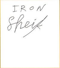 Iron Sheik Signed Shikishi Art Board Bas Beckett Coa Wwe Pro Wrestling Autograph