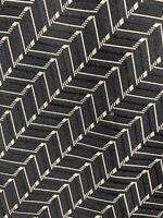 Ralph Lauren Purple Label Mens Silk Necktie Black White Tie EUC