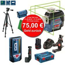 BOSCH Linienlaser GLL 3-80 CG Grün mit Laser-Empfänger LR7 + Stativ BT150