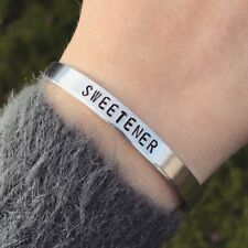 Ariana Grande Sweetener Bracelet Silver Cuff Handmade JewelleryThank U Next