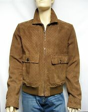 $4,200 GUCCI 44 54 Suede LEATHER Men Jacket Coat Moto Biker Italy Holiday Gift