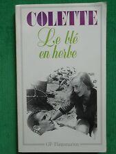 LE BLÉ EN HERBE COLETTE POCHE GARNIER FLAMMARION
