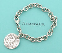 TIFFANY&Co Notes Fifth Avenue Tag Bracelet Silver 925 Bangle v1449
