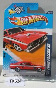 Hot wheels Muscle Mania 73 Ford Falcon XB Red 10/10 FNQHotwheels FK624