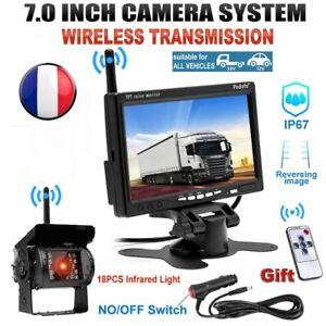 """7"""" moniteur Kit pour RV Truck Van +  Caméra de recul Sans fil Vision 12/24V"""