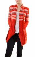For Love & Lemons Women's Fleetwood Knit Cardigan Red RRP $180 BCF68