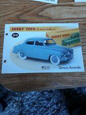 Fiche fascicule SIMCA Aronde 24 U Dinky Toys Atlas