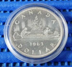 1963 Voyager Canada Dollar Silver Coin