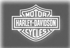 harley davidson motorcycle sticker decal white window shield vinyl HD auto bike