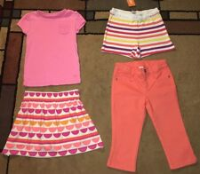 Gymboree, 2 Girls Outfits, Size 6, Top, Skirt,  Shorts, Pants/Capris, Lot of  4