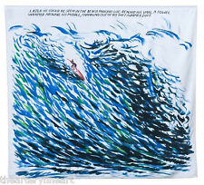 RAYMOND PETTIBON 'Later He Could...' Oversized Beach Towel SOLD-OUT Ltd. Ed. NEW
