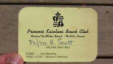 Vintage Princess Kaiulani Beach Club Moana Surfrider Beach Waikiki Hawaii