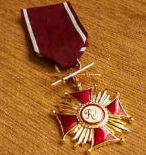 Polish GOLDEN CROSS of MERIT with SWORDS, WAR MEDAL WWII POLAND ORDER HIGH AWARD