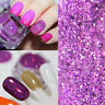 1g/Box Holographic Holo Purple Laser Powder Manicure Nail Art Glitter Decor DIY