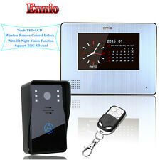 "Ennio 7"" LCD 900TVL Color Video Door Phone Doorbell Rainproof Night Vision CamQ6"