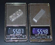 2 oz bar Pinewood Derby Tungsten weight TxChemist = 12 cubes lowest cost+ship