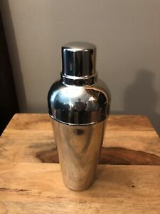 Pottery Barn Bar Cocktail Shaker Silver Color.