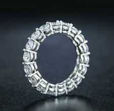 2.00Cts Round Simulated Diamond Classic Eternity Band Ring 14k White Gold Over