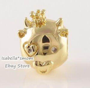 Chinese SHINING OX Authentic PANDORA SHINE 18K GOLD Plated Charm 768582C01 NEW!