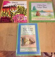 2003 Pooh Disney Tigger Father Little Bear PreK HARDCOVER BOOK LOT Weekly Reader