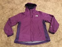 North Face HYVENT Purple ZIP UP Hooded Lightweight Jacket Women's Size XS