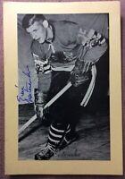 *SIGNED* 1944-63 Beehive🐝 Group II Photo #131 ERIC NESTERENKO, Blackhawks ~ VG