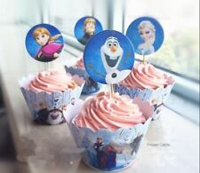 Frozen Cupcake Cup Cake Cases Toppers Wrappers DISNEY PARTY DECORATION GIFT TOY