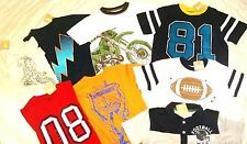 Nwt  Boys T-shirts Top Polo Summer Clothes Lot 5-6 Crazy 8 Football Robot New